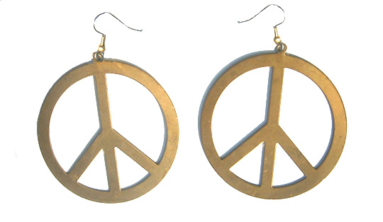 Br Peace Symbol Earrings Sign From Please