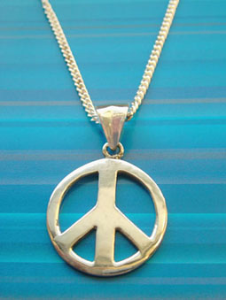 Sterling silver peace symbol necklace peace sign necklace from sterling silver peace symbol necklace peace sign necklace from peace please audiocablefo